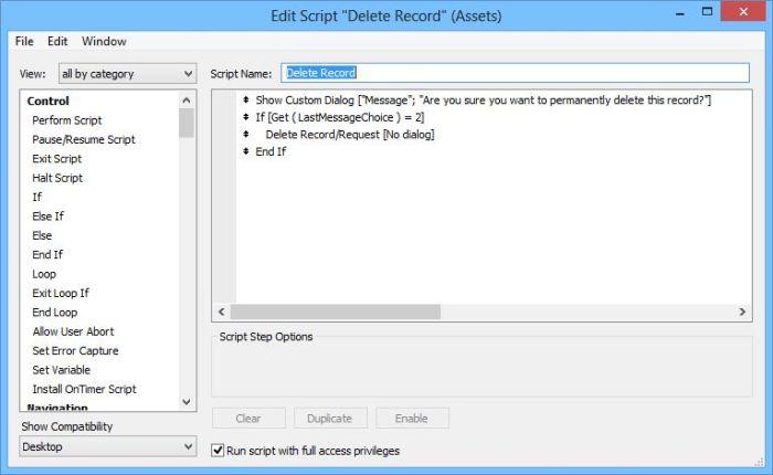 Custom Delete Script