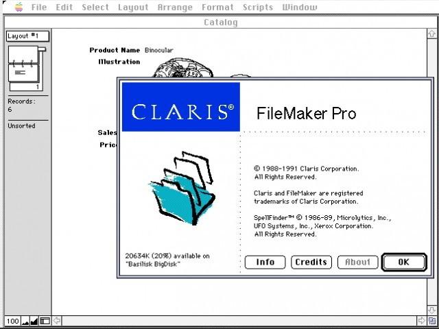 Claris FileMaker Pro 1